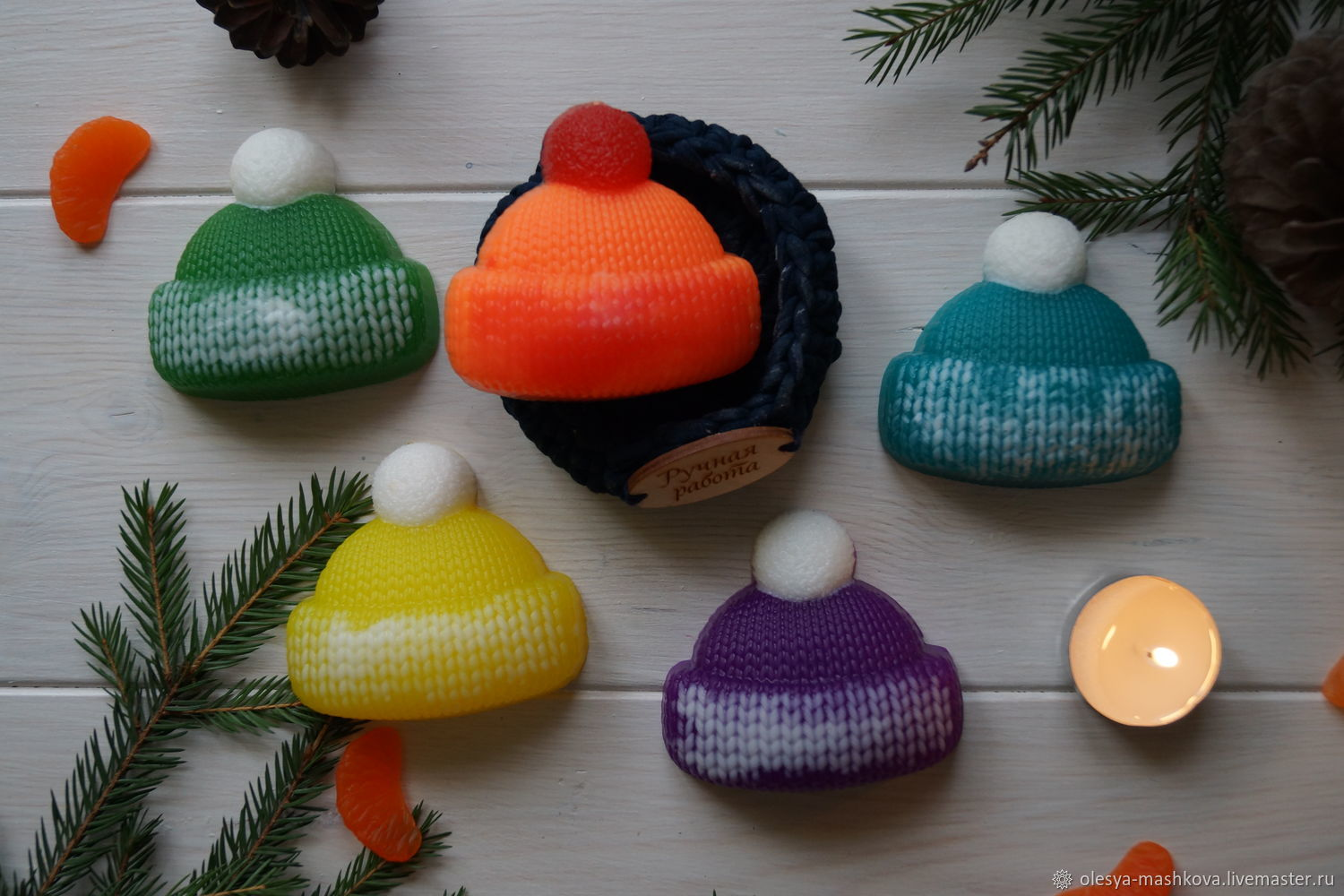 Beanie knitted, Soap, Moscow,  Фото №1