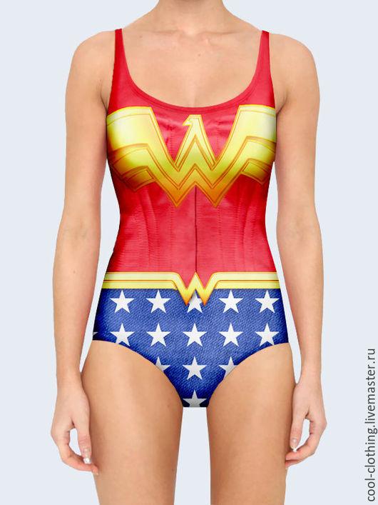 """Слитные купальники ручной работы. Ярмарка Мастеров - ручная работа. Купить Купальник """"Wonder Woman"""". Handmade. Подарок девушке"""