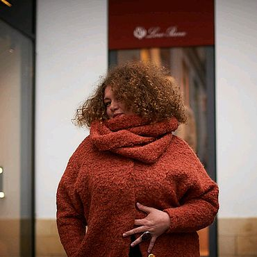 Одежда ручной работы. Ярмарка Мастеров - ручная работа Пальто оверсайз Огненное рыжее. Handmade.