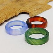 Украшения handmade. Livemaster - original item Set of 3 rings 17 tinted agate No. №1. Handmade.