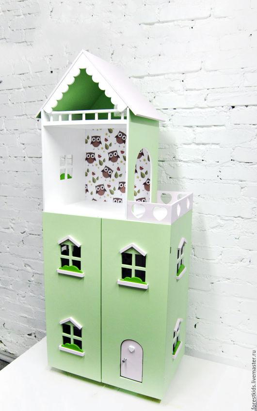 Кукольный дом ручной работы. Ярмарка Мастеров - ручная работа. Купить Кукольный дом. Handmade. Розовый, дом