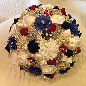 Свадебный салон ручной работы. Ярмарка Мастеров - ручная работа Брошь букет. Handmade.