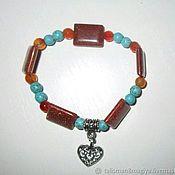 Фен-шуй и эзотерика handmade. Livemaster - original item Bracelet with aventurine howlite carnelian and talisman. Handmade.