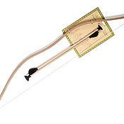 Мягкие игрушки ручной работы. Ярмарка Мастеров - ручная работа Игрушки: Лук со стрелами. Handmade.