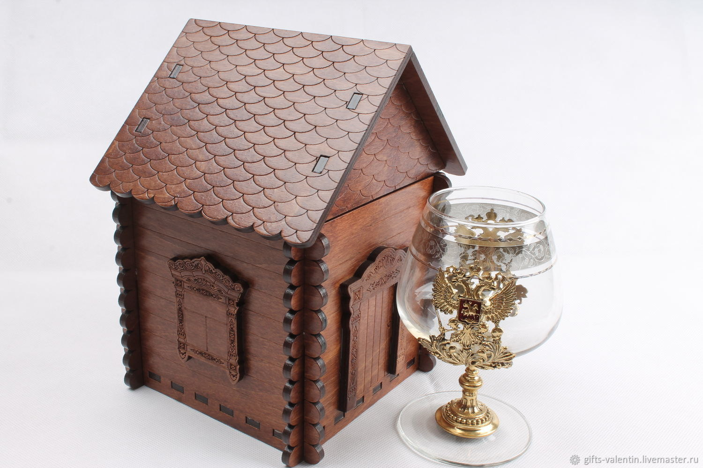 House for cognac glasses, original gift, Gift wrap, Vacha,  Фото №1