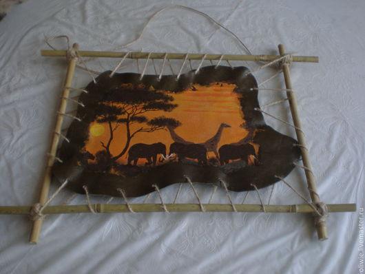 Животные ручной работы. Ярмарка Мастеров - ручная работа. Купить Сафари. Handmade. Подарок, подарок на любой случай, панно