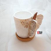 """Кружки ручной работы. Ярмарка Мастеров - ручная работа Нежный женский подарок чашка ручной работы """"крылья бабочки"""". Handmade."""