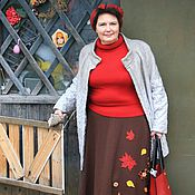 Одежда handmade. Livemaster - original item Knitted long skirt/Maxi Golden autumn, wool. Handmade.