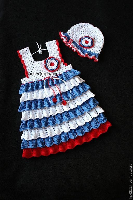 Одежда для девочек, ручной работы. Ярмарка Мастеров - ручная работа. Купить сарафан для девочки  Хорошо на море летом. Handmade. Белый