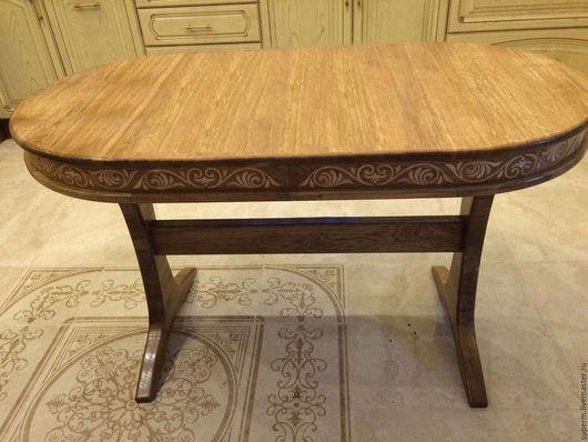 """Мебель ручной работы. Ярмарка Мастеров - ручная работа. Купить Обеденный стол """"Фома"""". Handmade. Коричневый, дубовая мебель, из дуба"""