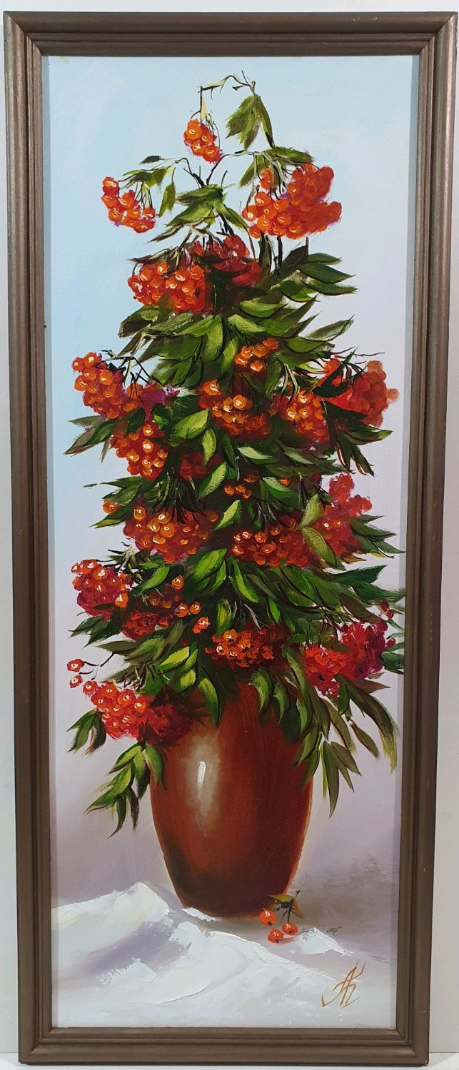 Картина Маслом на двп, оформлено в рамку 85х35, Картины, Малоярославец,  Фото №1