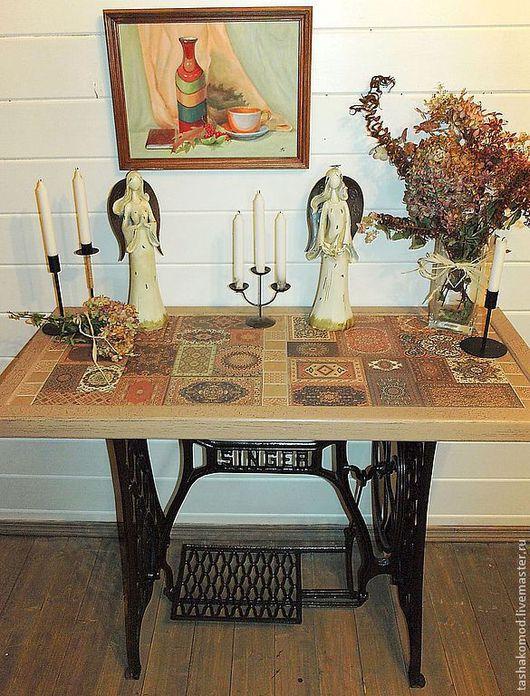 """Мебель ручной работы. Ярмарка Мастеров - ручная работа. Купить Стол """"Ковровая мозаика-2"""" (фантазия на тему """"Зингер""""). Handmade."""