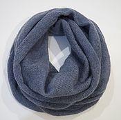 Аксессуары handmade. Livemaster - original item Snood knitted in two turns from kid-mohair grey blue. Handmade.