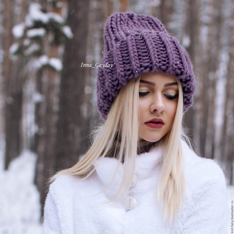 фото объемные вязаные шапки