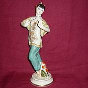 Винтаж handmade. Livemaster - original item DANCER CHINESE DANCER, TAO HAO RED POPPY. Verbilki. Handmade.