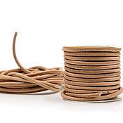 Материалы для творчества handmade. Livemaster - original item Leather cord 3 mm. Handmade.
