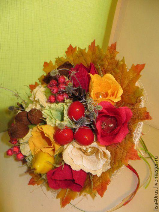 Букеты ручной работы. Ярмарка Мастеров - ручная работа. Купить Осенний букет. Handmade. Оранжевый, сладкий сувенир, шоколадные конфеты