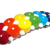 Украшения handmade. Livemaster - original item Hairpin automatic rainbow white. Handmade.
