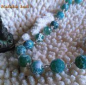 Украшения handmade. Livemaster - original item Green Agate necklace in Wire Wrap technique. Handmade.