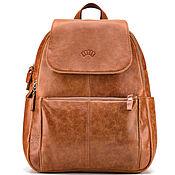 "Сумки и аксессуары handmade. Livemaster - original item Кожаный рюкзак ""Дафна"" (рыжий). Handmade."
