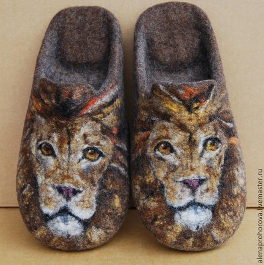 """Обувь ручной работы. Ярмарка Мастеров - ручная работа. Купить Тапочки валяные """"Царь"""". Handmade. Тапочки валяные, тапки"""