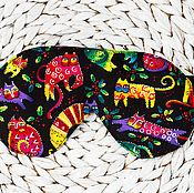 Одежда ручной работы. Ярмарка Мастеров - ручная работа Маска для сна Котики. Handmade.