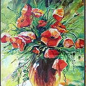 """Картины и панно ручной работы. Ярмарка Мастеров - ручная работа Картина """"Солнце и маки"""". Handmade."""