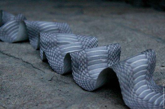 Шитье ручной работы. Ярмарка Мастеров - ручная работа. Купить Кожа кобры светло-серая природный окрас. Handmade. Серый
