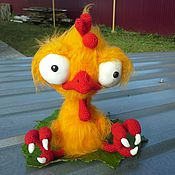 Куклы и игрушки ручной работы. Ярмарка Мастеров - ручная работа Петушонок Прошка ) - вязаная игрушка, вязаный петух. Handmade.
