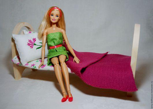Кукольный дом ручной работы. Ярмарка Мастеров - ручная работа. Купить Кроватка для куклы (1).. Handmade. Комбинированный, кукольная кровать