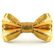 Галстуки ручной работы. Ярмарка Мастеров - ручная работа Галстук-бабочка золотая. Handmade.