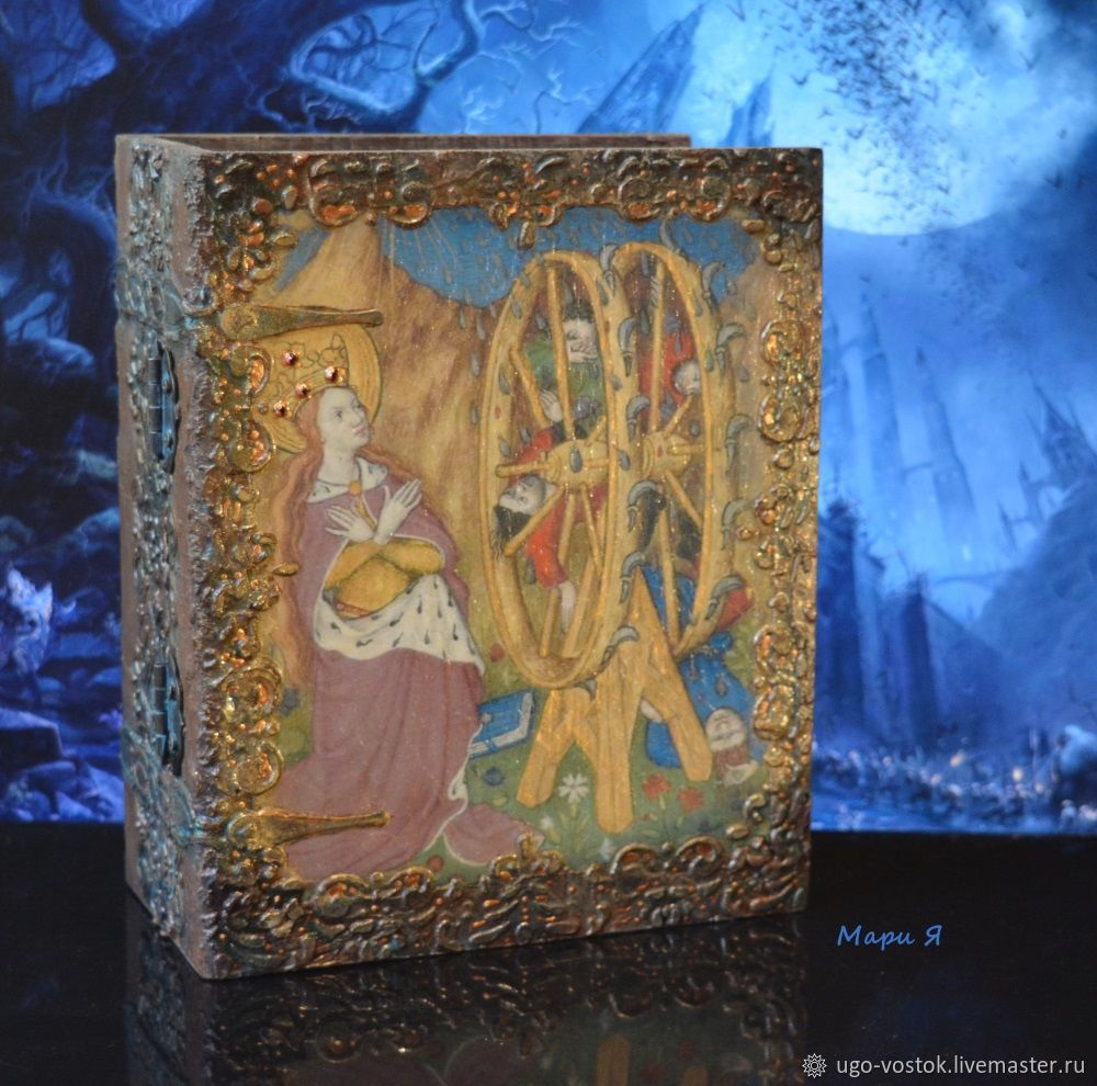 Medieval culture: Box for Tarot. Box book, Card case, Moscow,  Фото №1