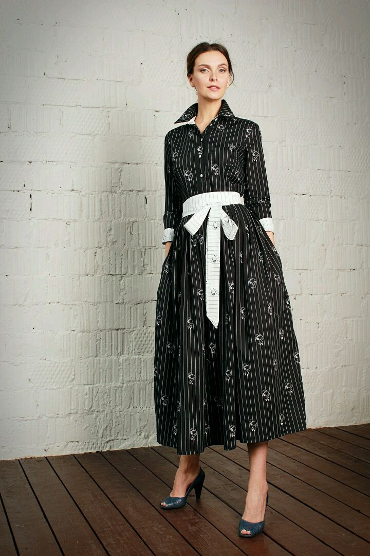 T-shirt dress 'Suitably' black-and-white, Dresses, Moscow,  Фото №1