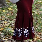 Одежда ручной работы. Ярмарка Мастеров - ручная работа Костюм вязаный асимметричная кофта и юбка годэ. Handmade.
