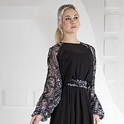 Одежда ручной работы. Ярмарка Мастеров - ручная работа Черное вечернее платье, платье из шифона. Handmade.