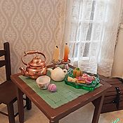 Куклы и игрушки handmade. Livemaster - original item Table with a mosaic top in Dollhouse Furniture for dolls. Handmade.