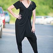 Одежда handmade. Livemaster - original item Luxury summer jumpsuit with dropped shoulders - JP0354JE. Handmade.