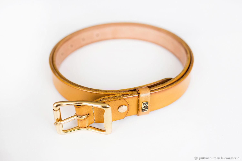 Elegant belt with a width of 30mm with brass roller buckle purple, Straps, Tel Aviv,  Фото №1