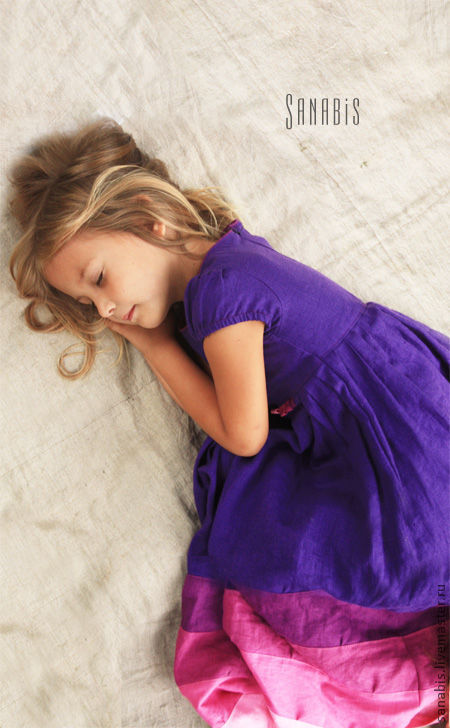 Одежда для девочек, ручной работы. Ярмарка Мастеров - ручная работа. Купить Фиолетовое платье для девочки. Handmade. Платье для девочки