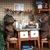 Куклы и игрушки handmade. Livemaster - original item How the hedgehog and the Bear celebrated the New year... Handmade.
