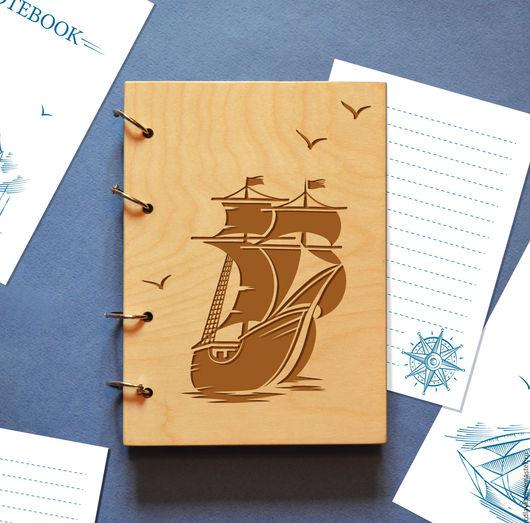 """Блокноты ручной работы. Ярмарка Мастеров - ручная работа. Купить Блокнот """"Морское путешествие"""". Handmade. Комбинированный, подарок, блокнот"""