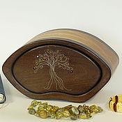 Для дома и интерьера ручной работы. Ярмарка Мастеров - ручная работа Мини-комодик с инкрустацией серебром. Handmade.