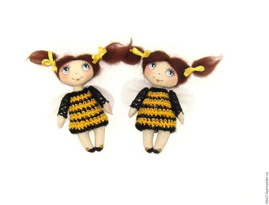 """Броши ручной работы. Ярмарка Мастеров - ручная работа. Купить Брошки """" Пчелки """". Handmade. Комбинированный, пчелка, пчела"""