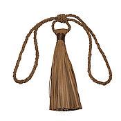Для дома и интерьера ручной работы. Ярмарка Мастеров - ручная работа Подхват для штор из коричневой кожи. Handmade.