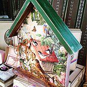 Для дома и интерьера ручной работы. Ярмарка Мастеров - ручная работа Ключница сосновая Птички. Handmade.