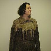 """Одежда ручной работы. Ярмарка Мастеров - ручная работа Пальто """"Капуччино"""" валяное, размер 52. Handmade."""
