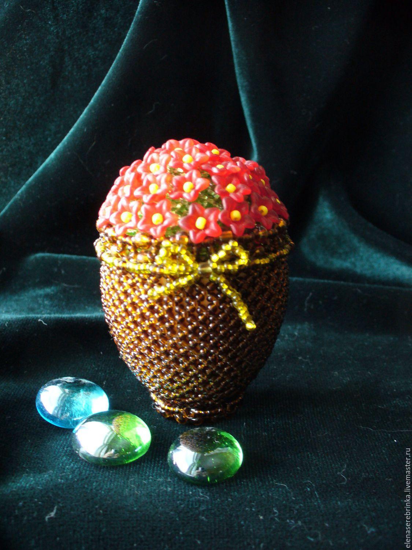 Пасхальное яйцо из бисера Корзинка, Яйца, Армавир,  Фото №1