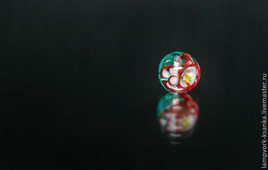 """Для украшений ручной работы. Ярмарка Мастеров - ручная работа. Купить бусина для бижутерии """"Цветы в стекле"""". Handmade. Цветы из стекла"""