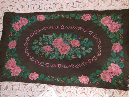 Винтажные предметы интерьера. Ярмарка Мастеров - ручная работа. Купить Вышивка старинные розы. Handmade. Вышивка, винтаж, бохо стиль