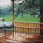 Картины и панно ручной работы. Ярмарка Мастеров - ручная работа После дождя - картина маслом. Handmade.